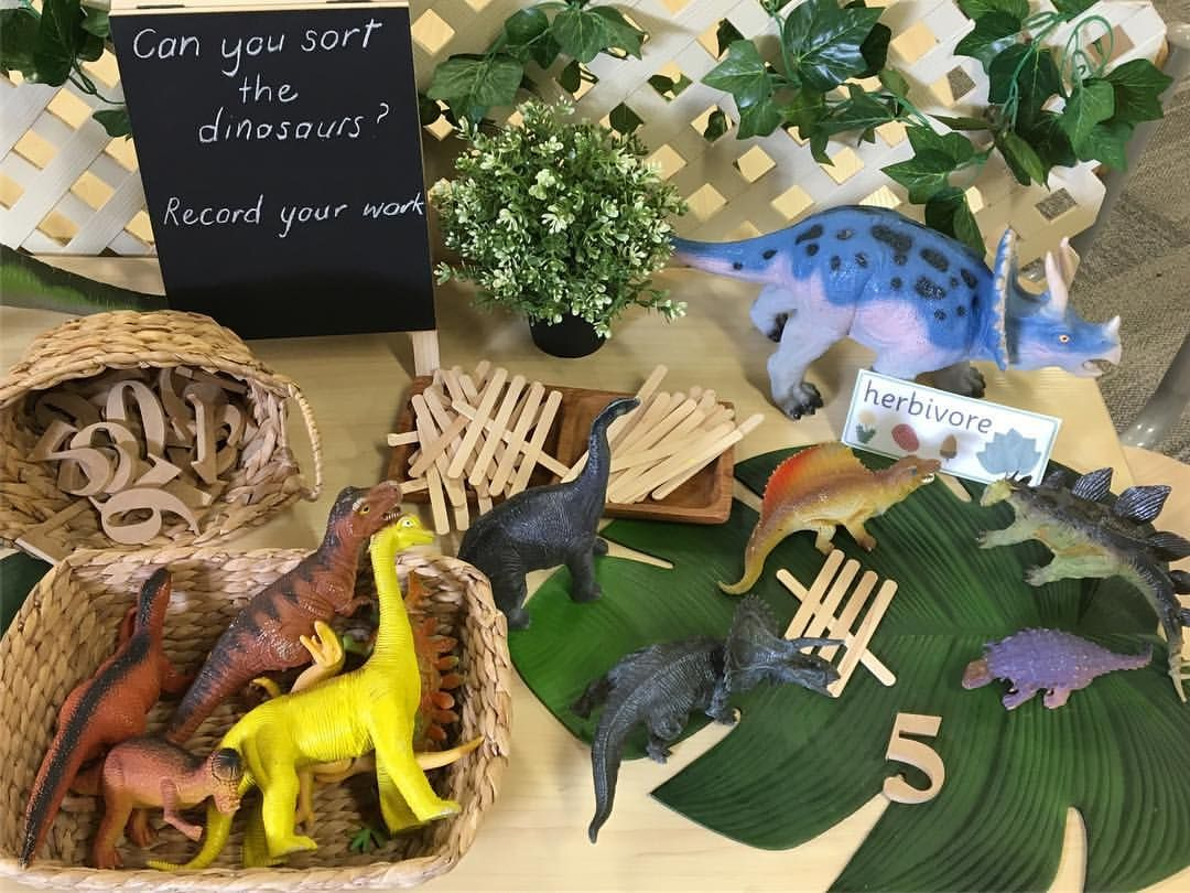 Dinosaur Provocation Sorting Herbivores And Carnivores