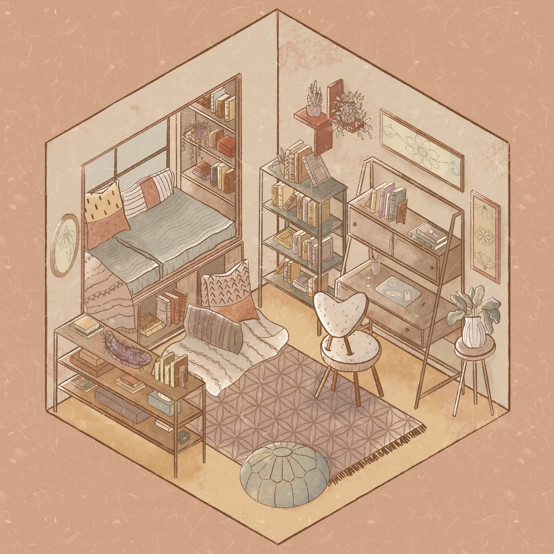 Isometric Illustration In Procreate Design Your Dream Room Weronika Salach Skillshare Isometric Art Isometric Drawing Isometric Illustration Room design drawing app