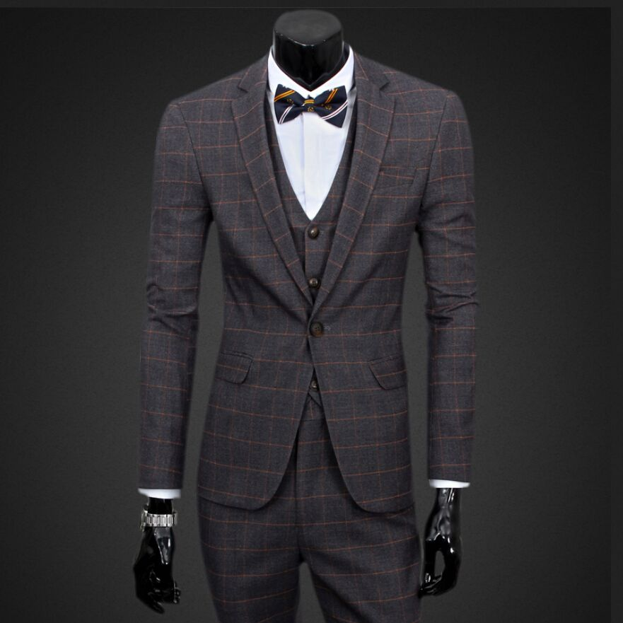 popular mens plaid suits buy cheap mens plaid suits lots. Black Bedroom Furniture Sets. Home Design Ideas