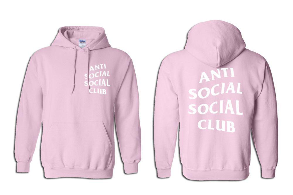 9ca5dd3f0dea Anti Social Social Club Know You Better Hoodie Pink Unisex Kanye Yeezy  Yeezus  Handmade