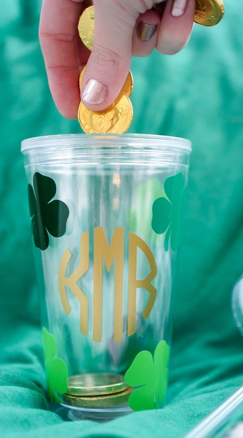 Diy st patricks day gift idea how to apply adhesive