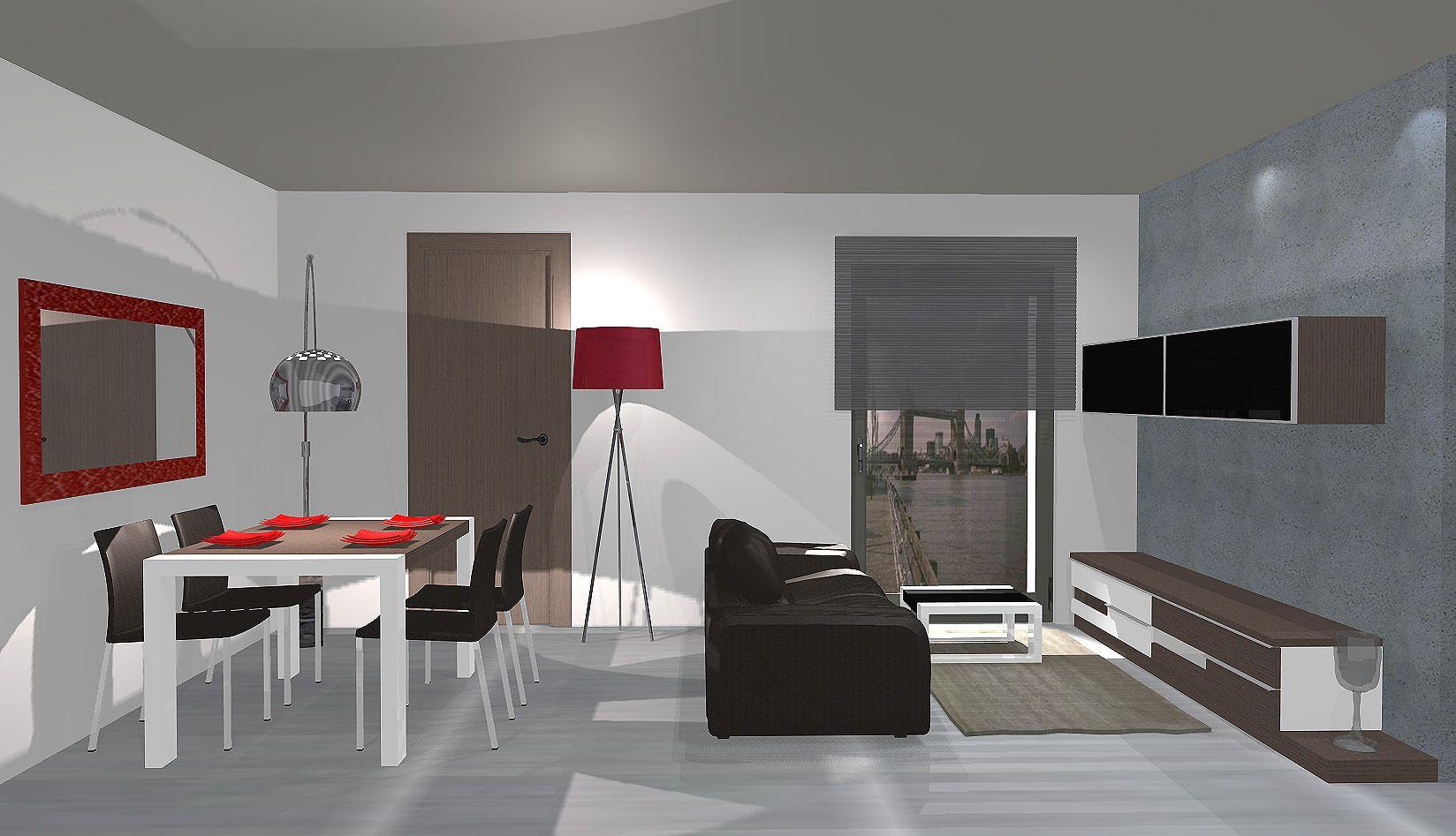 Decoracion #Moderno #Comedor #Sala de estar #Dibujos #Mesas de ...
