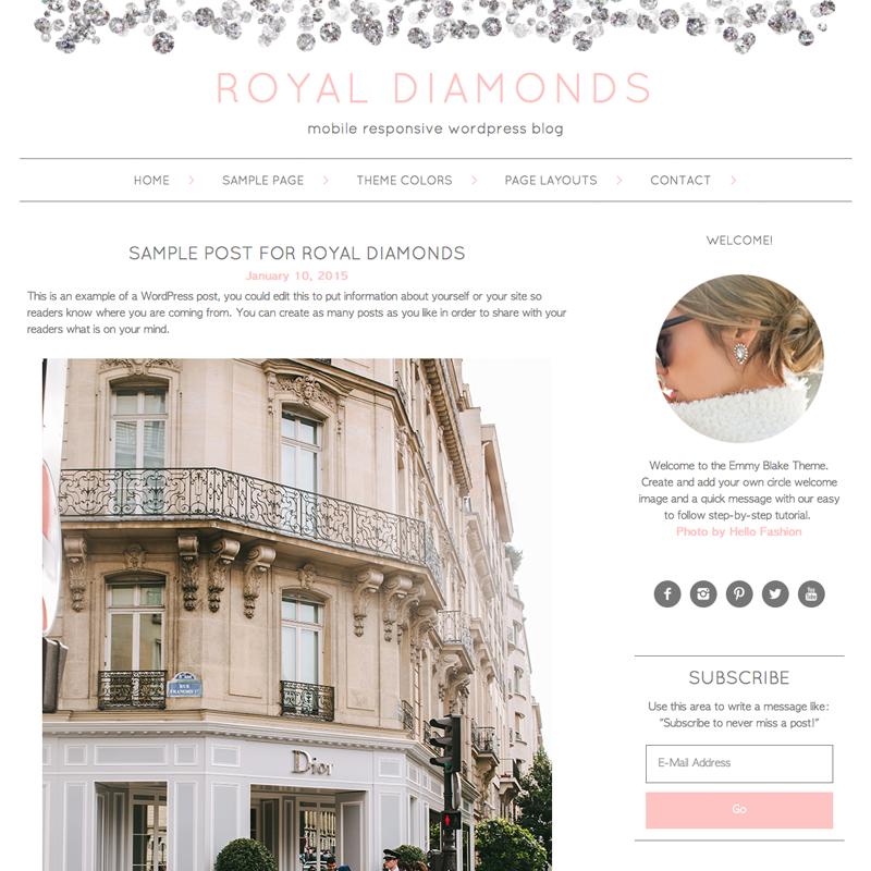 Responsive WordPress Theme Royal Diamonds — Studio Mommy - A Mommy\'s ...