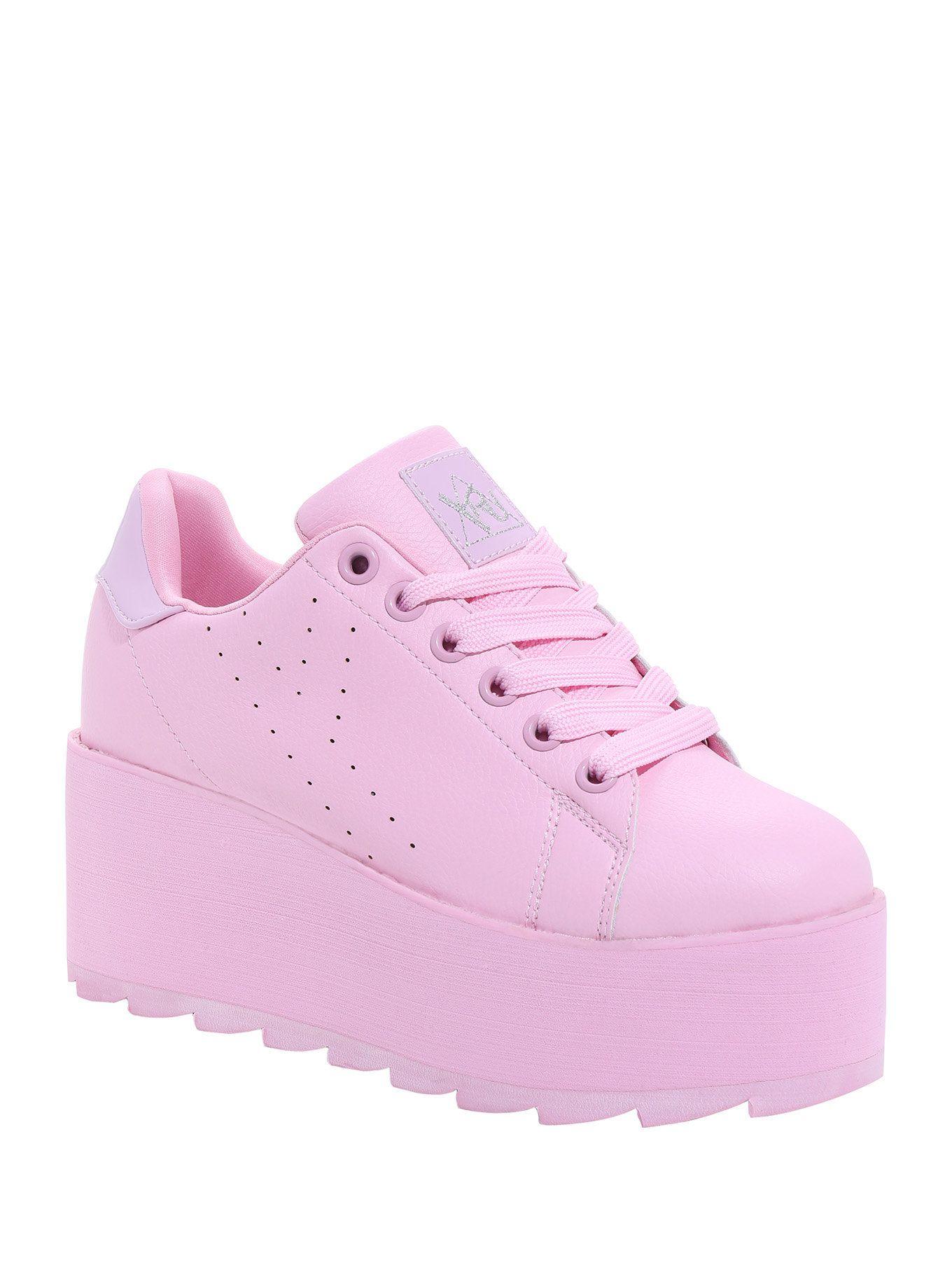 Y.R.U. Lala Pink Lace-Up Platform