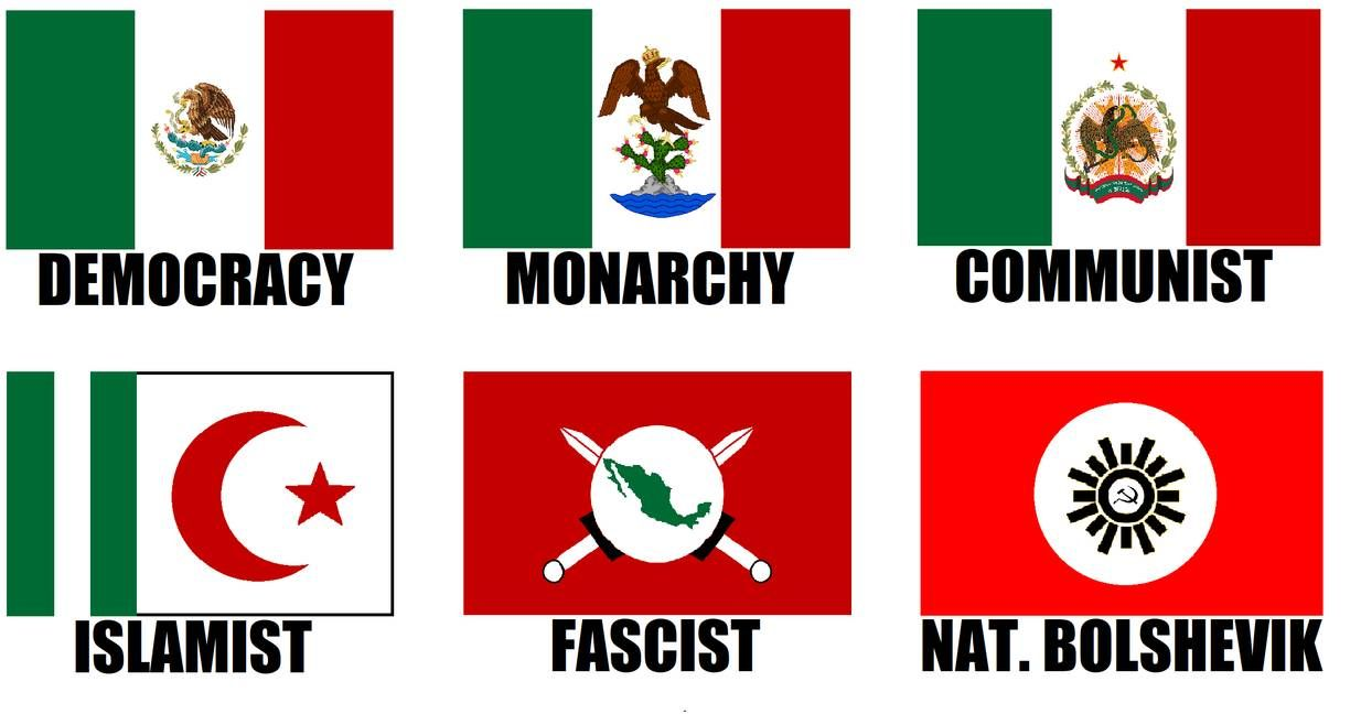 Alternate Flags Of Mexico By Wolfmoon25 Flag Art Flag Flags Of The World