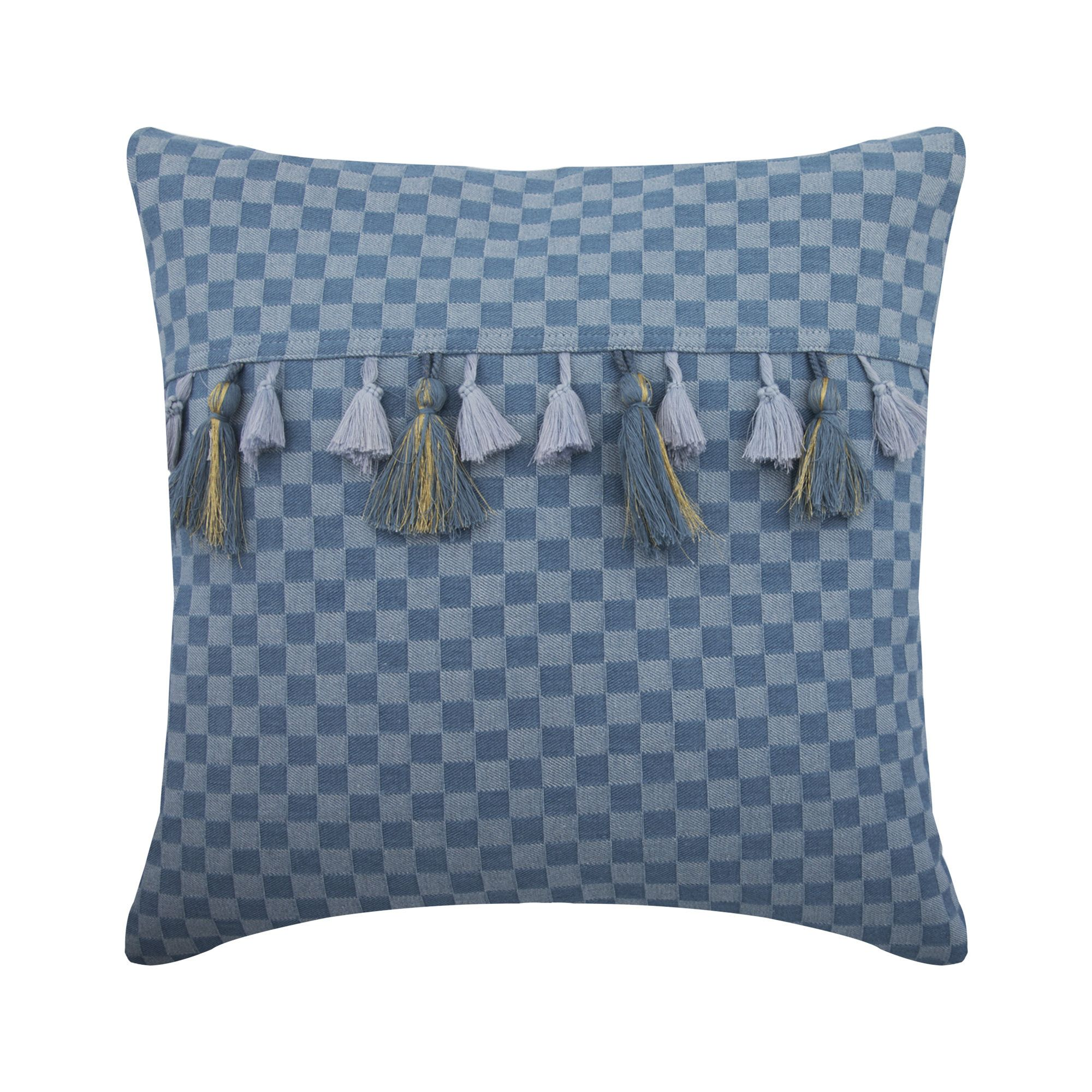 Denim Blue Couch Pillow 16x16 Decorative Couch Etsy In 2020 Blue Sofa Throw Blue Sofa Blue Pillow Covers