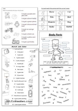this is a mix worksheet about toys colours shapes animals school objects body parts. Black Bedroom Furniture Sets. Home Design Ideas