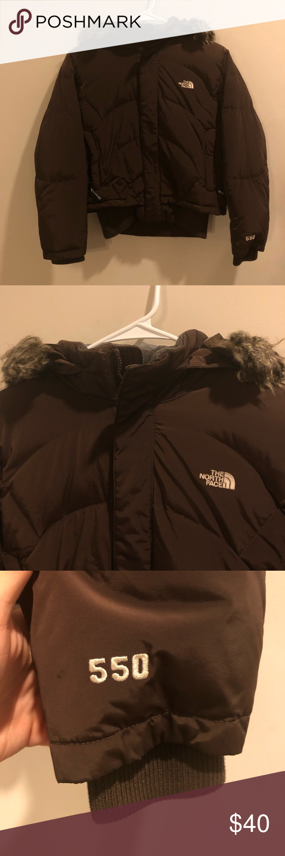 The North Face 550 Puffer Jacket Fur Hood Brown Puffer Jacket Fur Hood Fur Jacket Puffer Jackets [ 1740 x 580 Pixel ]