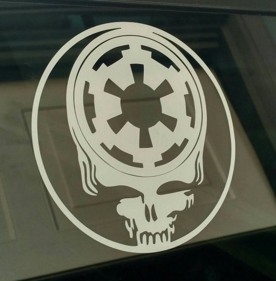 Grateful dead star wars die cut vinyl decal window car guitar sticker skull jedi vader