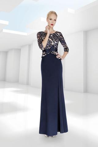 eedfbfe9b1 Vestido de madrina largo con mangas color azul 1170021 de Sonia peña ...