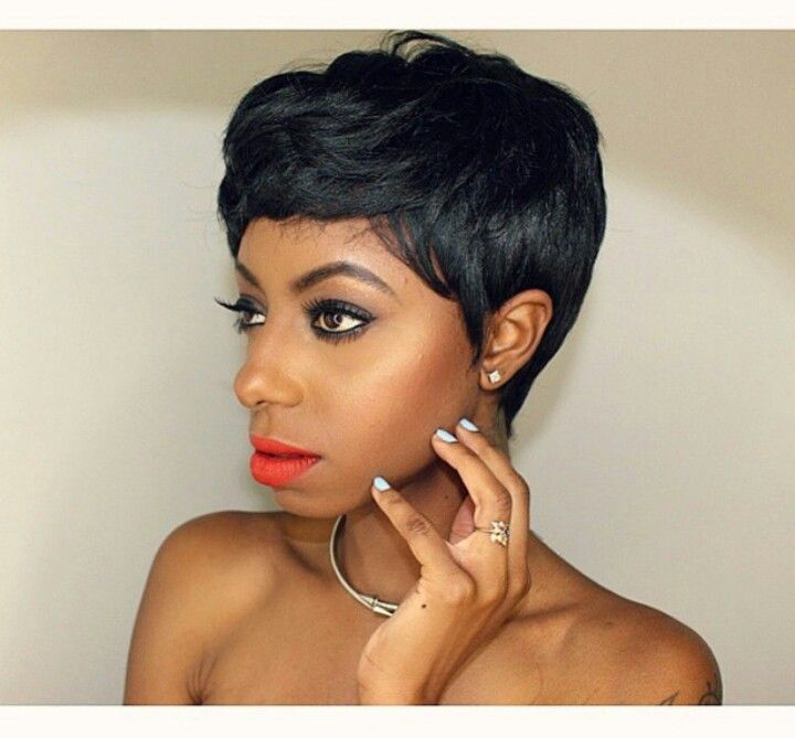Pixie Haircut Sew In | Short pixie wigs, Quick weave ...