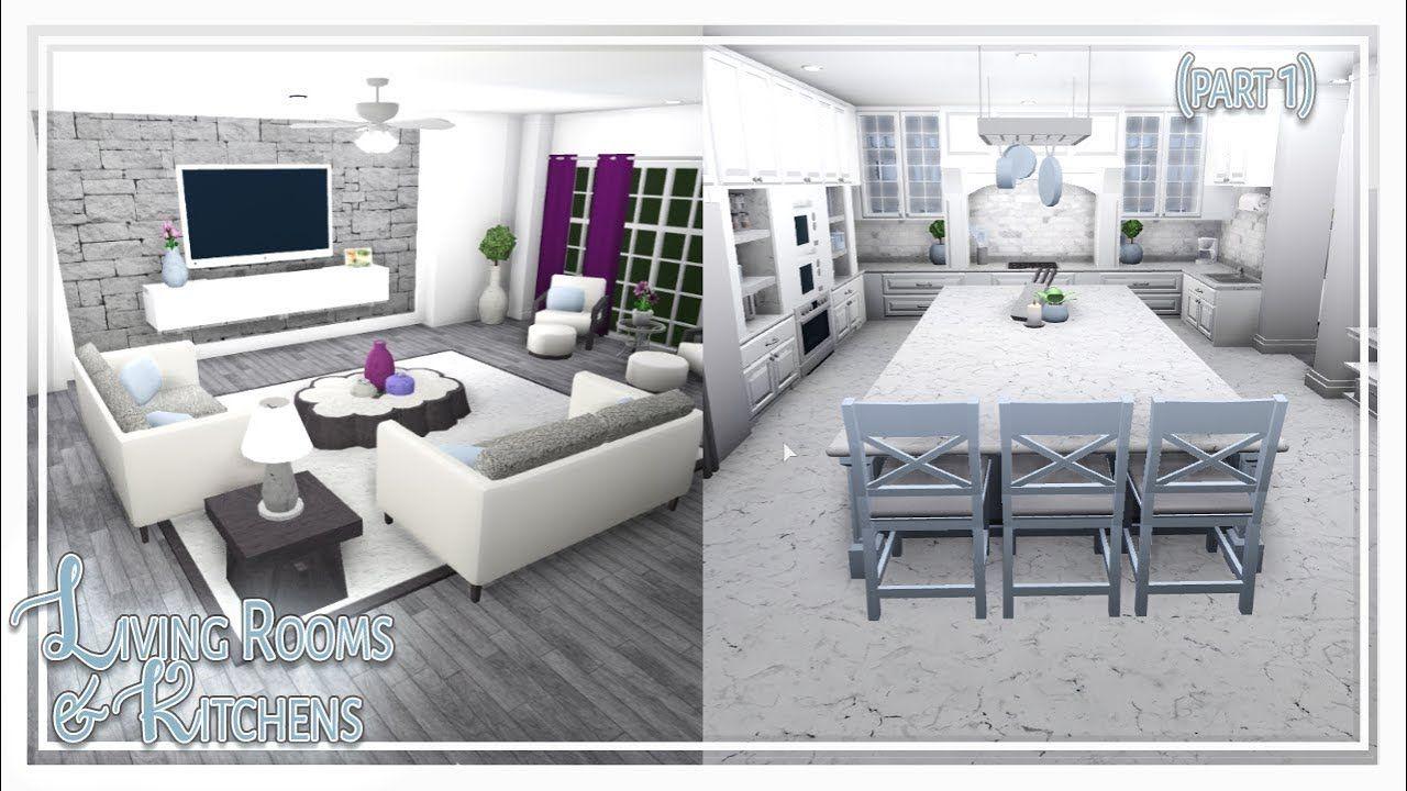 Bloxburg Living Room Kitchen Build Part 1 Of 2 In 2021 Fun Living Room Living Room Design Modern Small Modern Living Room Living room ideas bloxburg
