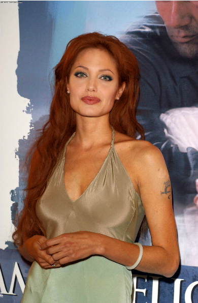 Angelina Jolie With Other Make Up And Hair Color Made By