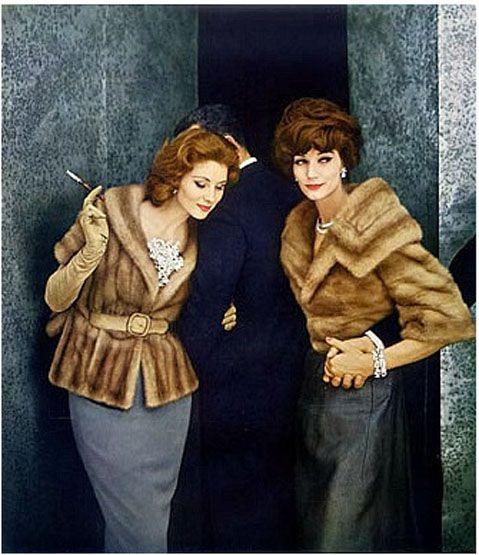 Suzy Parker and Simone D'Aillencourt, 1959