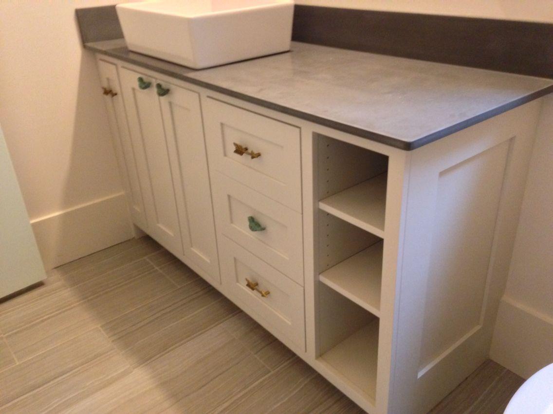 Best Vessel Sink Vanity In Sherwin Williams Incredible White 400 x 300