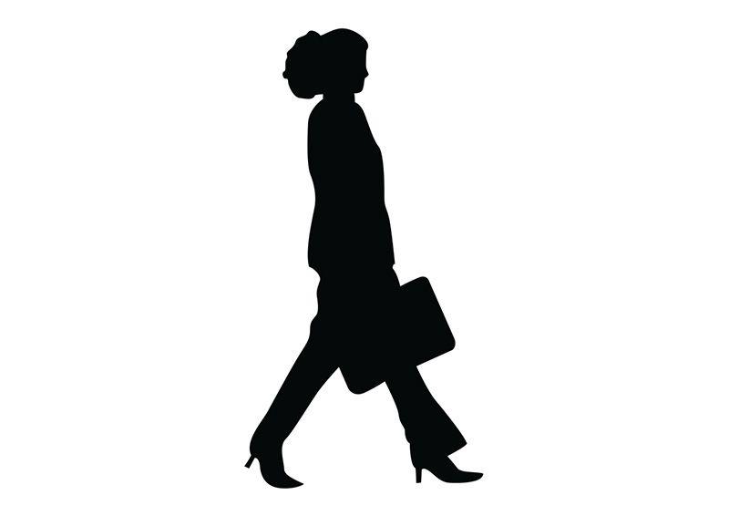 Walking Woman With Bag Silhouette Walking Women Silhouette Walking Silhouette