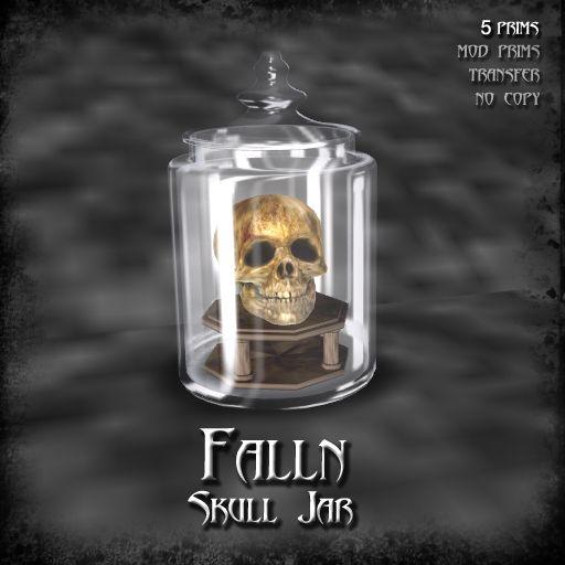 Falln Skull Jar