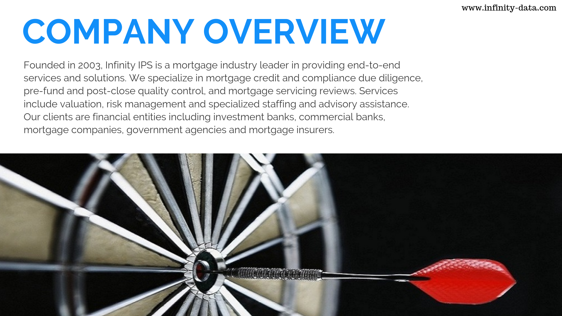 Founded In 2003 Infinity Ips Is A Mortgage Industry Leader In