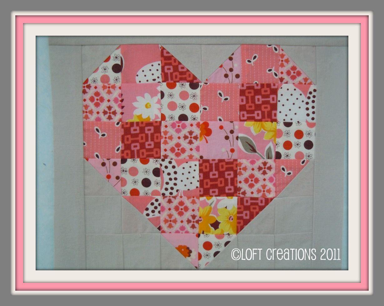 heart shaped quilt blocks | ... Quilt Patterns, Pictorials, Scrap ... : heart quilt block patterns - Adamdwight.com
