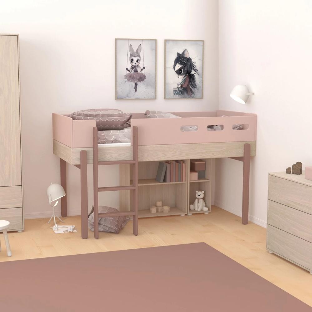 Flexa Hochbett Popsicle Halbhoch In Rosa Online Kaufen Kidswoodlove Halbhohes Kinderbett Hochbett Bett