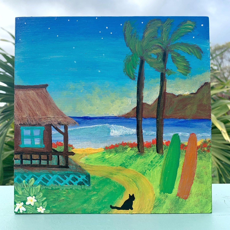 Island Life Wall Art Maui Original Painting Surf Art Etsy Ocean Painting Surf Art Painting