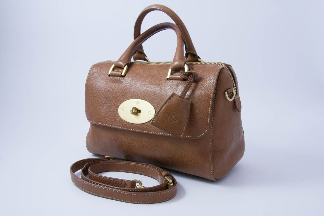 0da3ed2786 Authentic Preloved Mulberry Small Del Rey Bag in Oak Tan Brown NVT with  Brass Hardware