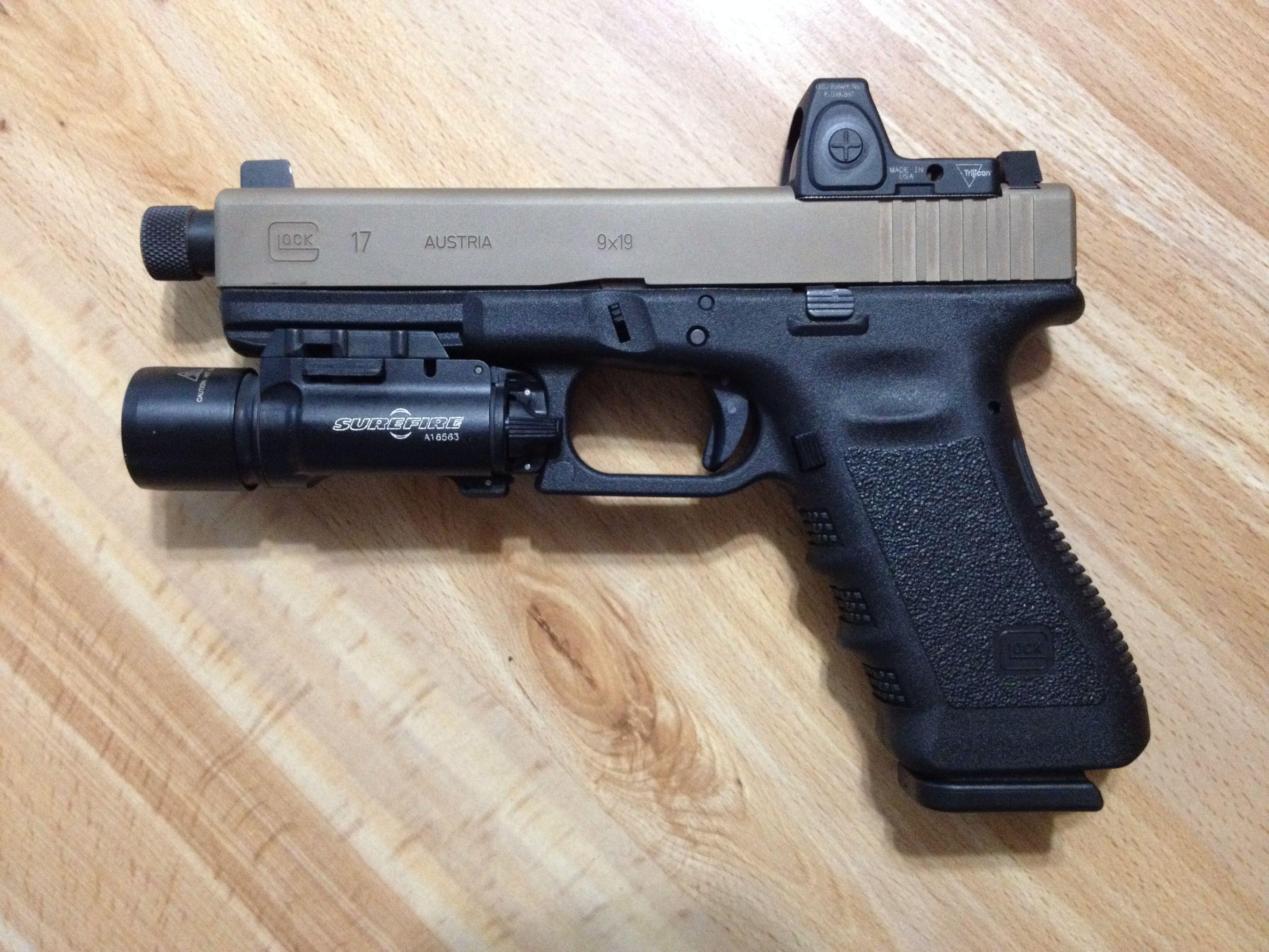 Glock 17 gen 3, Ion-bonded milled slide, Lone Wolf threaded barrel