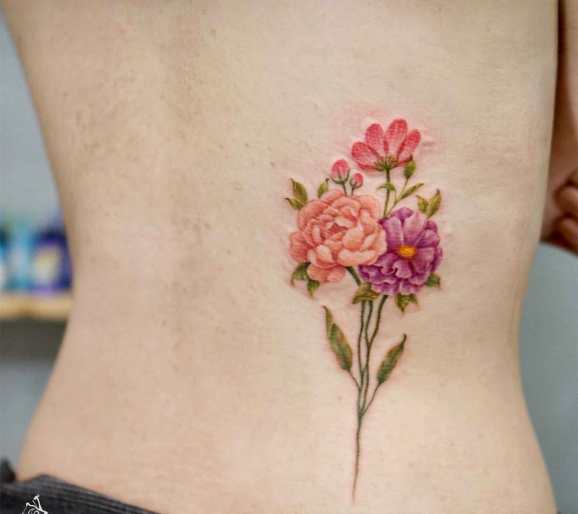 Pin De Tiffy En Tattoos Flowers Tatuajes Manifestaciones Artisticas Ramos De Flores