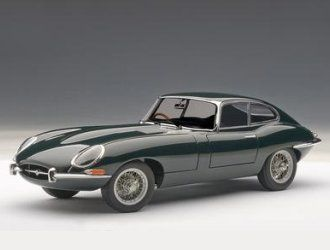 This Jaguar E Type Series I Coupe 3.8 Diecast Model Car is Dark Green and features working steering, suspension, wheels and also opening bonnet with engine, boot, doors. It is made by AUTOart and is 1:18 scale (approx. 24cm / 9.4in long).  ...
