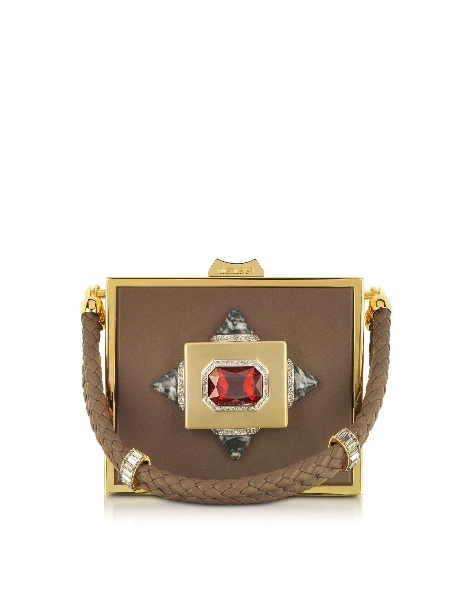 Roberto Cavalli Luxury Box Clutch at FORZIERI
