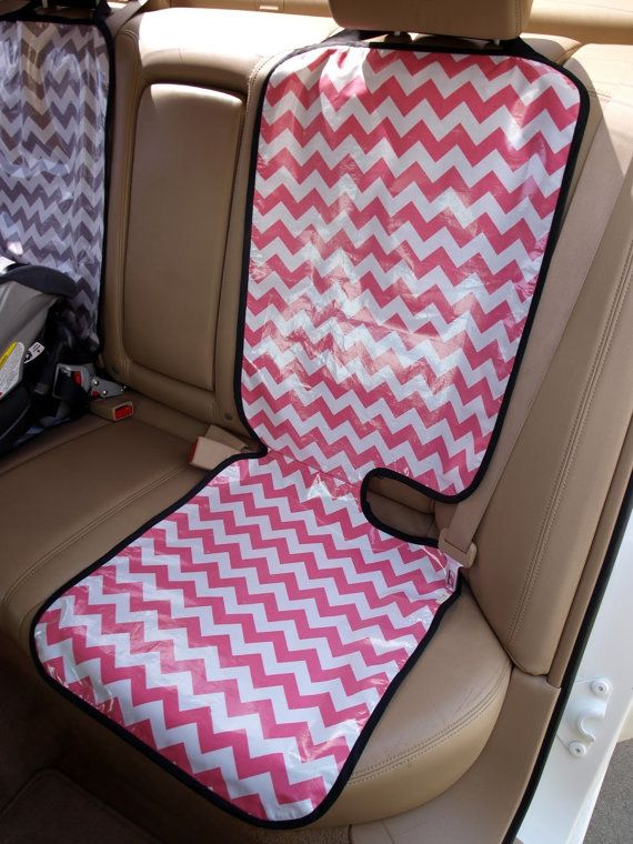Chevron car seat protector 18x47 inches by ChevronandLace on Etsy