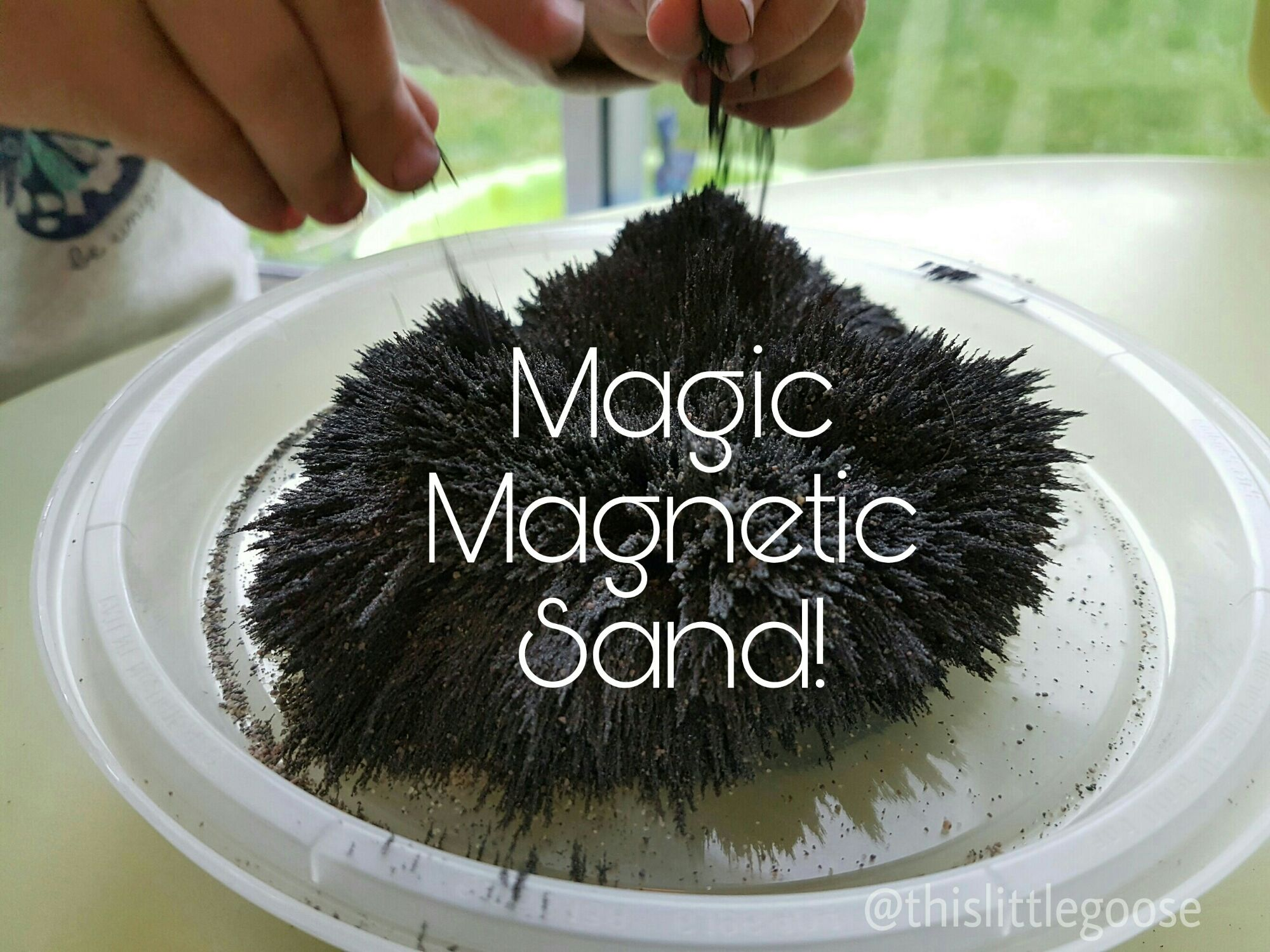 Magic Magnetic Sand! | Outdoor fun | Magnets science, Magnets, Sand