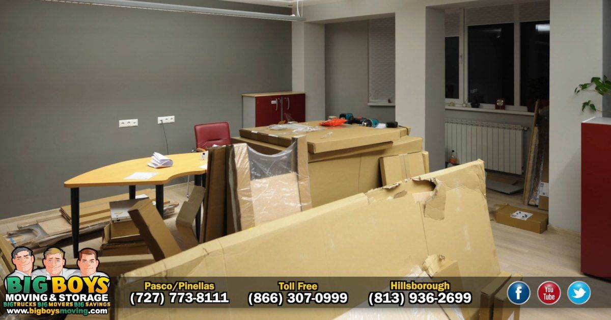 At Big Boys Moving and Storage of Tampa Bay, we can handle any