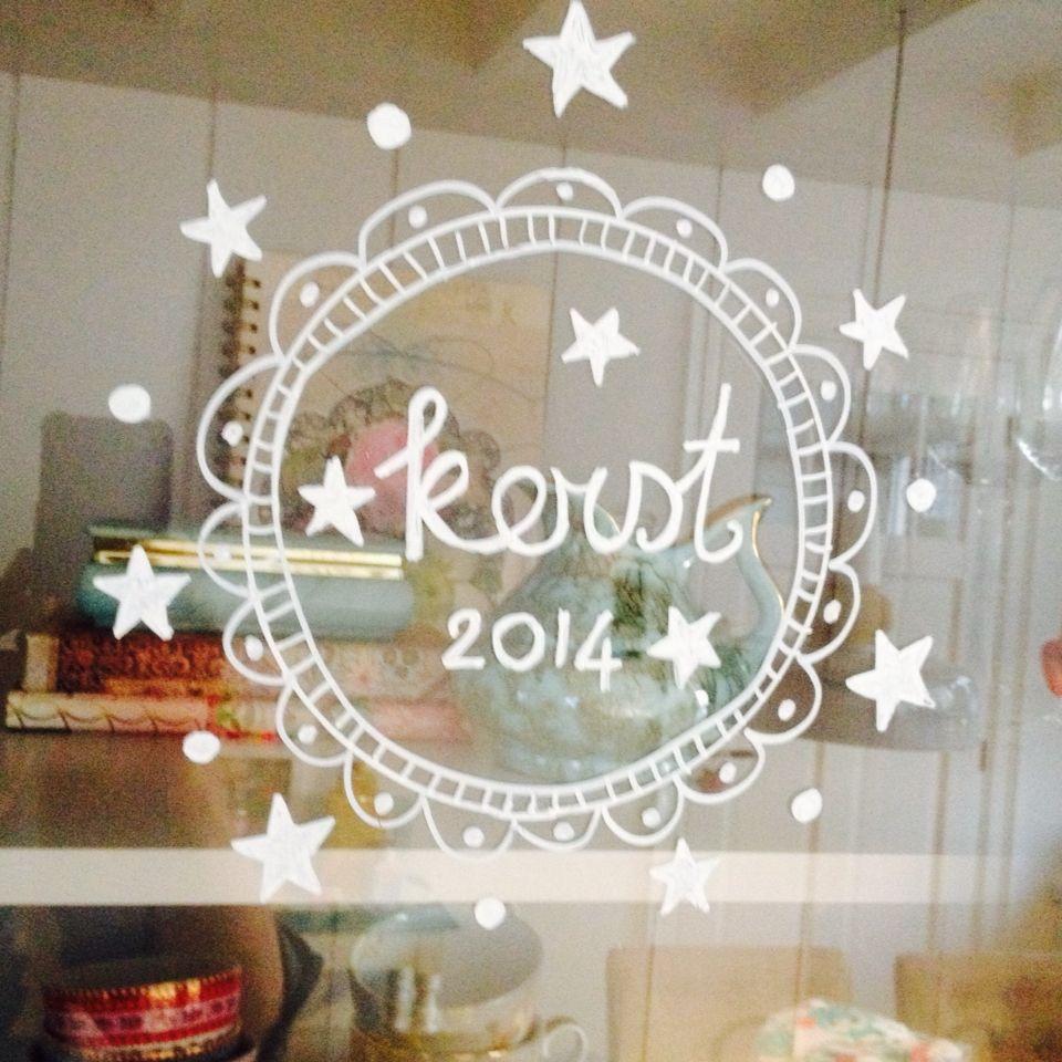 Window drawing christmas raamtekening kerst marije for Decoration noel fenetre gel