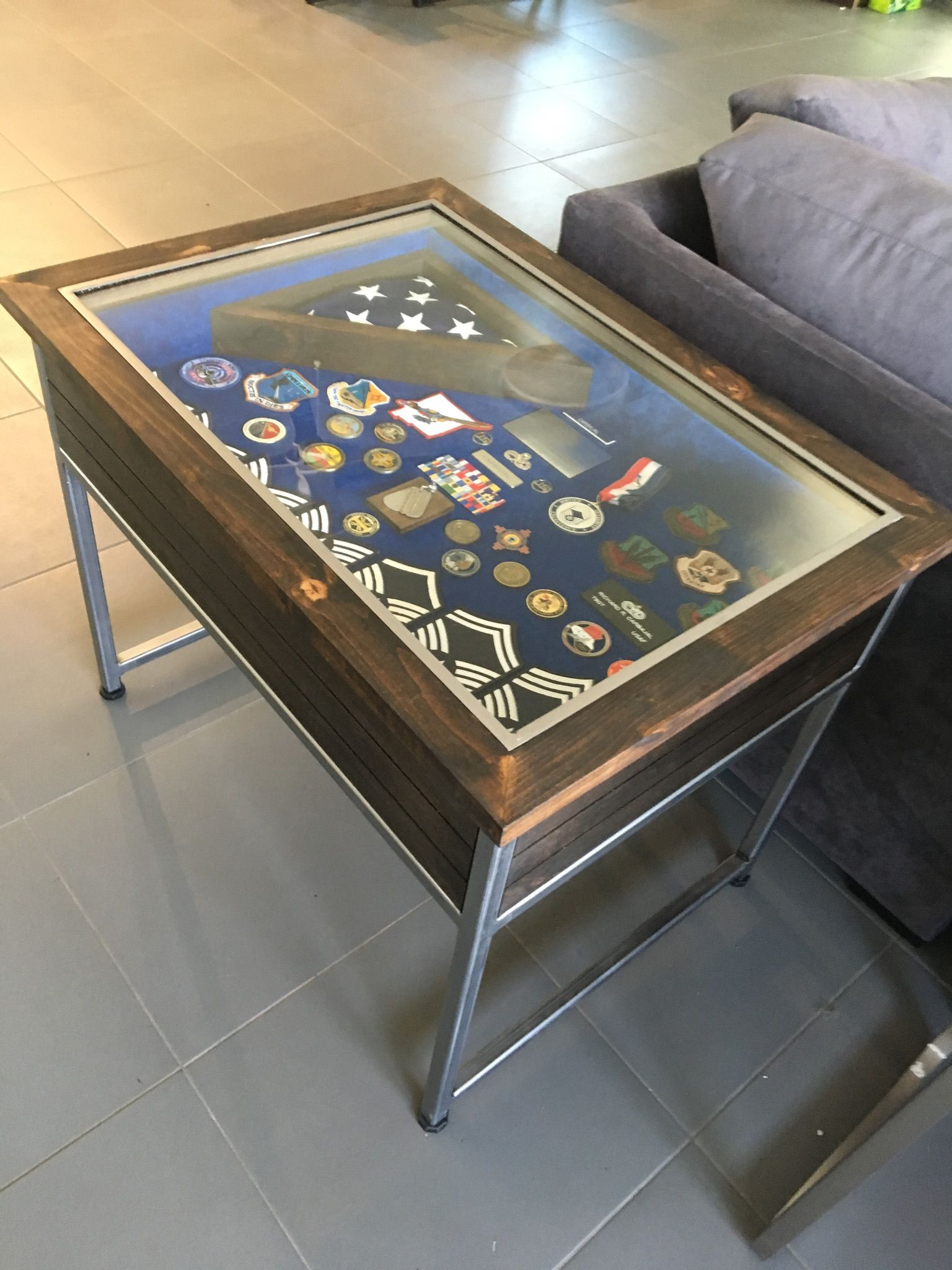 Window Coffee Table Military Gift Military Retirement Military Shadow Box Shadow Box Military Shadow Box Shadow Box Coffee Table Display Coffee Table