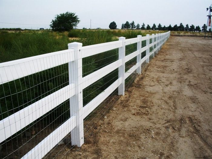 vinyl post and rails with wire mesh - Google Search | dog and horse ...
