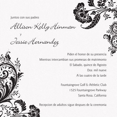 spanish wedding invitations wedding wedding invitations 7606