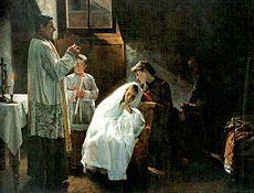 La primera y última comunión, 1888. Cristóbal Rojas