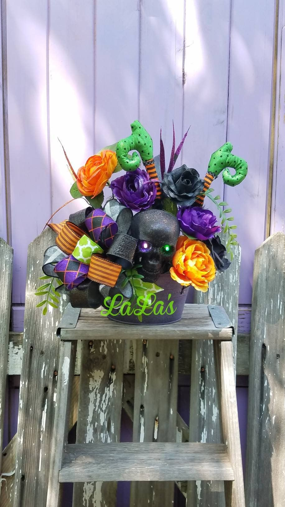 Halloween Table Decor- Halloween Centerpiece- Halloween Flower - whimsical halloween decorations