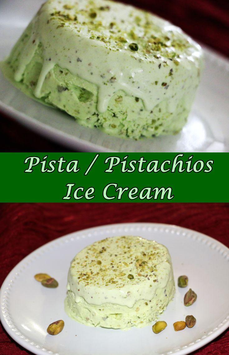 homemade pistachio ice cream recipe in 2020 pistachio ice cream food on hebbar s kitchen recipes videos ice cream id=82847