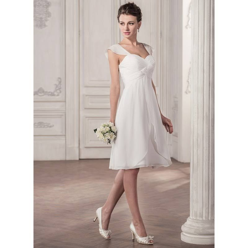 Calf Length White Beach Dresses For Weddings