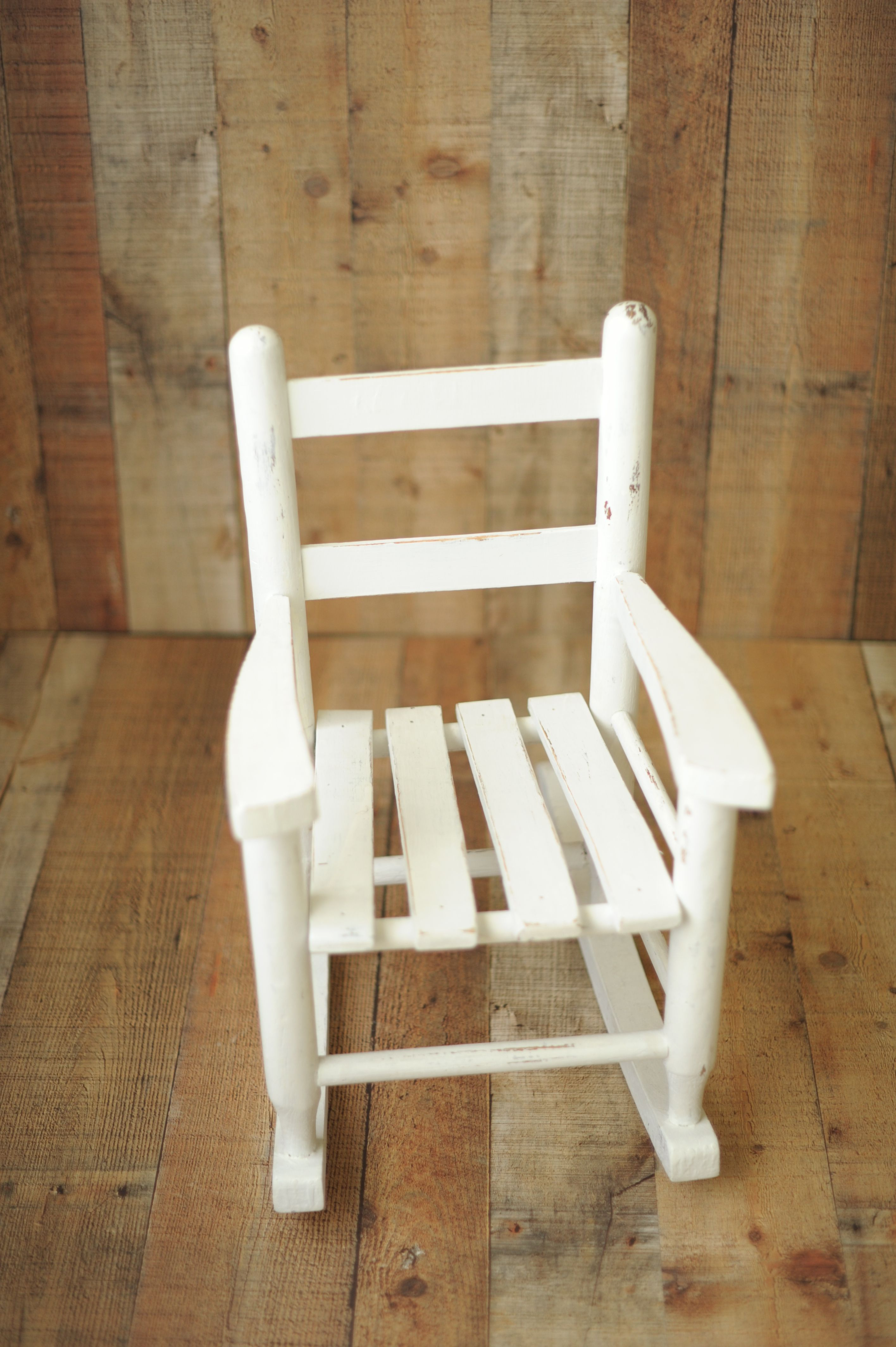 Antique White Rocker  Sitter And Small Child Chair