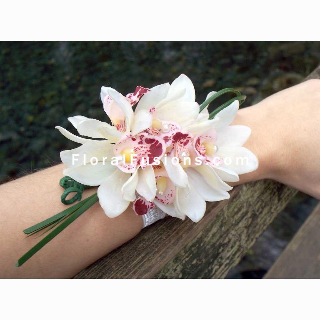 Cymbidium Orchid Wrist Corsages: Cymbidium Orchids Corsage