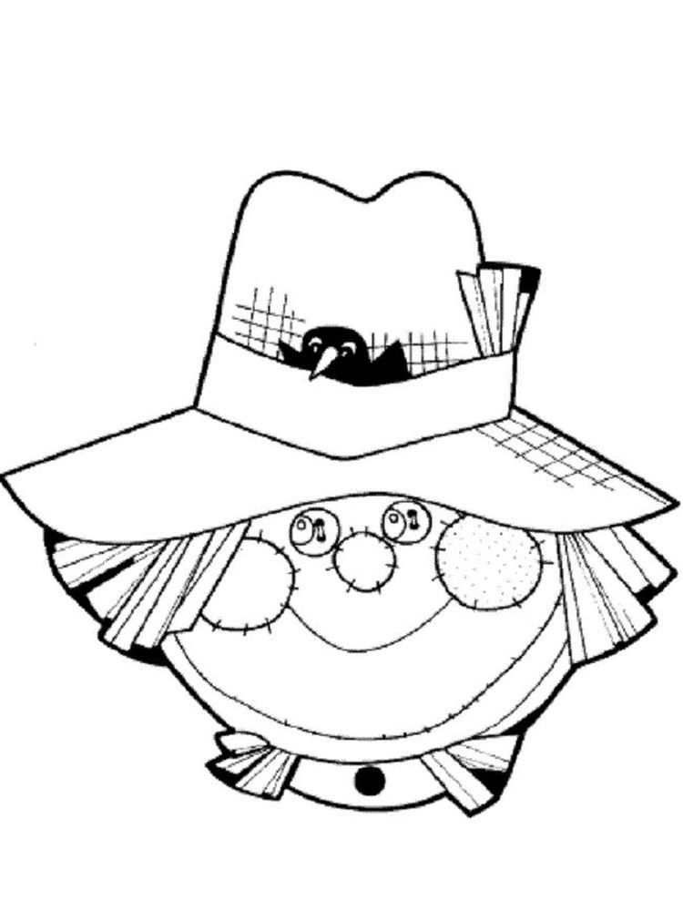 Scarecrow Coloring Pages Online The Following Is Our Collection Of Easy Scarecrow Coloring Page Y Scarecrow Crafts Fall Coloring Pages The Scarecrows Wedding