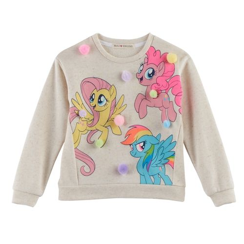 Toddler Girls Sweatshirt Long Sleeve Rainbow Pullover Baby Girls Cartoon Cotton Sweater Shirt 1-7Y