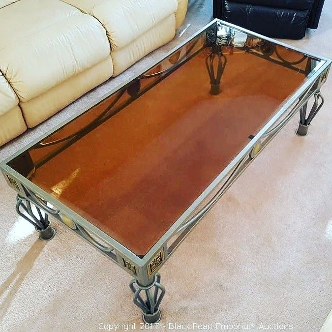 Very nice coffee table. Check it out in our online auction https://auction.blackpearlemporium.ca/m/#/auctions #collingwood #auctions #furniture #giftideas #cottage #rustic #wasagabeach #shabbychic #homefurnishings #homedecor #bargains #onlineauction #glassandwood
