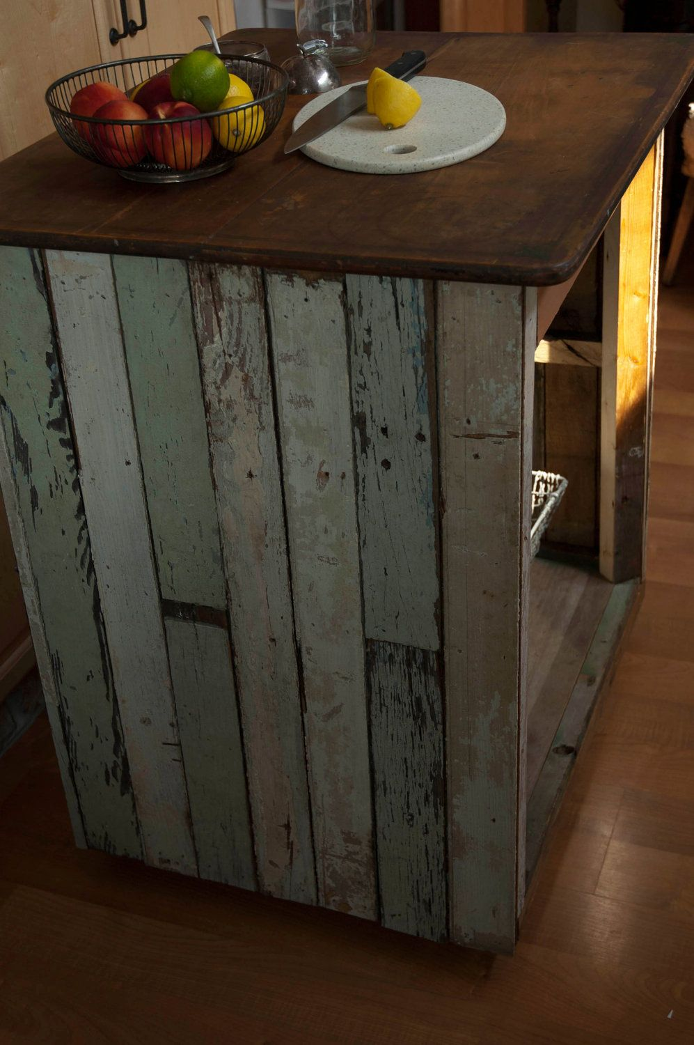 Handmade Kitchen Islands Utensil Organizer Reclaimed Wood Industrial Island Table Projects
