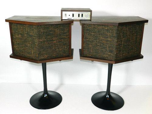 Vintage Bose 901 Speakers Equalizer Tulip Stands Mid