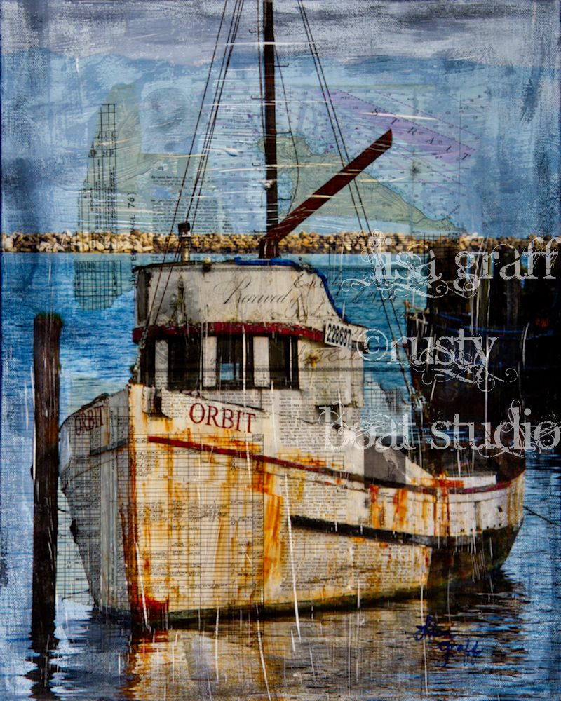 Color art printing anchorage - Nautical Boat Art Print Canvas Mixed Media Beach House Artwork Www Etsy Com