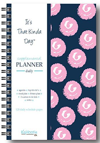 It S That Kinda Day When You Wish You Had A Personal Assistant Daily Planner 8 5 X 6 In Size Navy And Pink Polka Dot Daily Planner Pink Polka Dots Planner